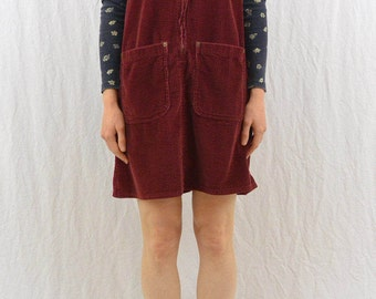 Vintage Maroon Corduroy Jumper, Size Small, Grunge, Hipster, My So Called Life, 90's Clothing, Tumblr Clothes