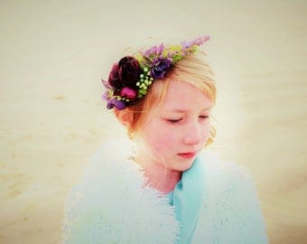 lavender halo, flower crown,  spring headband, fairy headband, flower girl headband, lavender headband, ready to ship from ages 1-adult