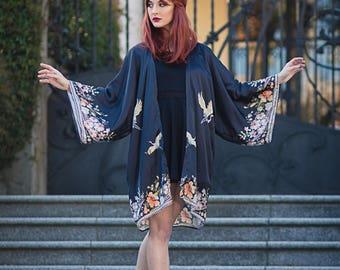 Kimono Robe Silky Cardigan Beach cover up Bohemian festival Oversized kimono Summer boho jacket
