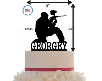 Cake Topper , Customized - Birthday - Anniversary - Event - more Choice of color - Paintball - Glitter - Mirror - Glossy - Pearl