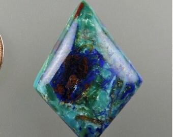 Blue Bird Azurite Cabochon, Blue Bird Azurite Cab, Designer Cabochon, Jewelry Supplies, Craft Supplies, Gift Cabochon, #C1938, 49erMinerals