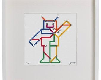 Subway Robot Print (Many Cities)