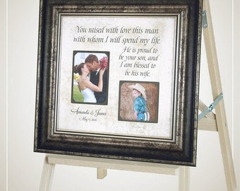 Wedding Thank You for InLaws In Laws, Parents of the Groom, Mother of the Groom, You Raised With Love This Man, Personalized Wedding,16 X 16