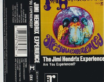 Jimi Hendrix - Are you experienced ? - vintage tape cassette - classic acid hard rock music - psychedelic - 70s - Free shipping Canada USA