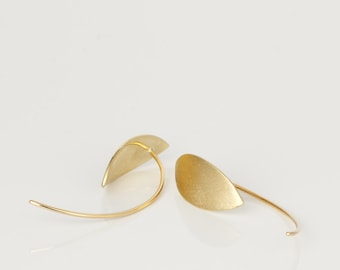14k gold earrings, minimalist gold earrings, drop earrings gold minimalist earrings,  gold geometric earrings
