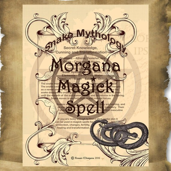 SNAKE MYTHOLOGY, Digital Download,  Book of Shadows Page, Grimoire, Scrapbook, Spells, Wiccan, Witchcraft,