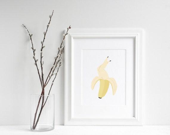 "Madam Banane - Fruit Print- 6""x8"" Print"