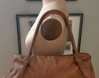 MIU MIU Tan Soft Pebbled Leather Handbag