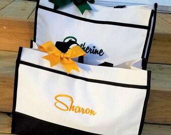 Set of 6 Bridesmaid Tote Bag Personalized Bridesmaid Bags Monogram Bridesmaid Gifts