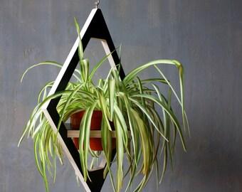 Triangular Mirror Barn Wood Frame Hanging Mirror Reclaimed