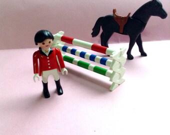 Playmobil Geobra Equestrian set, Rider Horse Obstacles, original, egst, Greece