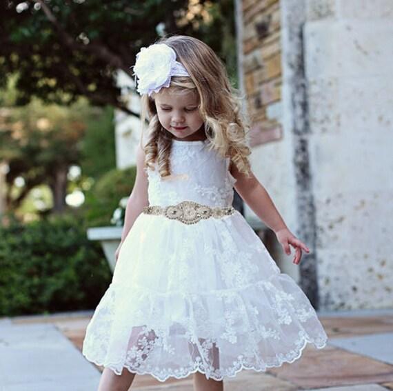Flower girl dresses white lace