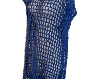 Swim Dress, Swim suit cover up, Swim Cover, Cotton Crochet Dress, Plus Size Dress, Womans Dress, Mesh Dress, Crochet Cover Up, Summer Dress