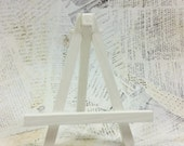Small White Easel, Handpainted Wood Easel for Miniature Art Wedding Table Signs Place Cards