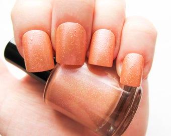 Sparkling Peach Nail Polish // Glitter Nail Polish // Glitter // Summer // Peach // Indie Polish // Vegan Friendly // Nail Polish