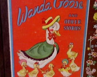Vintage 1946 Wanda Goose and Other Stories A Brownie Book Book  by Samuel Lowe