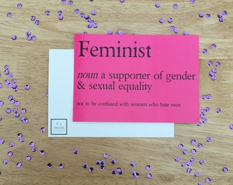 Feminist Definition Funny Art Print Bookmark Poster Postcard Nasty Woman Feminist Mother's Day Gift