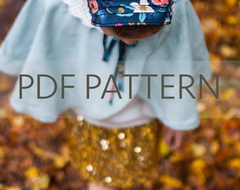 Lottie Bonnet PDF, bonnet pattern, newborn bonnet pdf, sewing pattern, toddler bonnet pdf, baby patterns, baby bonnet pdf