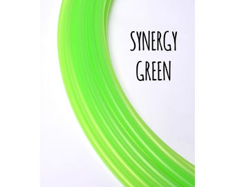 NEW Synergy Green Translucent 5/8 Polypro Hoops ~ Polypro Hoops, Bright Light Green 5/8 Polypro, FestivalTreasures, Fast Shipping