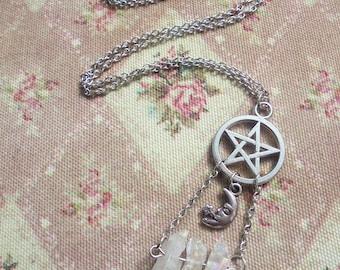 Witchy Pentacle/Pentagram Angel Aura Necklace (version 2)