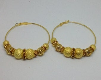 22kt Gold Plated Basketball Wives Hoop Earrings