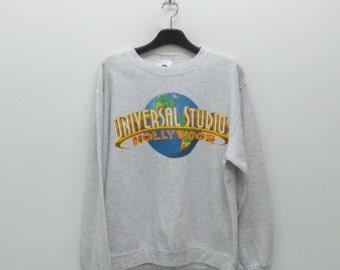 Universal Studios Sweatshirt Vintage Universal Studios Hollywood Pullover Universal Studios Vintage Sweat Made in USA Mens Size M