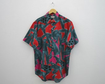 Paul Smith Shirt Vintage Paul Smith Abstract Print Button Down Shirt Mens Size L
