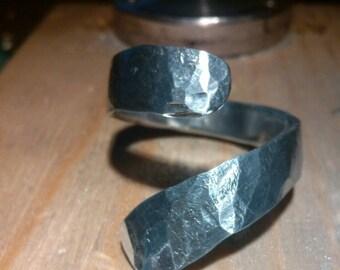 Aluminum ring. Thumb ring Womens statement ring. Aluminium ring. Contemporary jewelry Aluminium jewelry