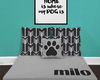 custom dog bed modern monogrammed raised dog beds free