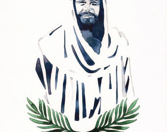Christ with Palm Leaves + James 1:5