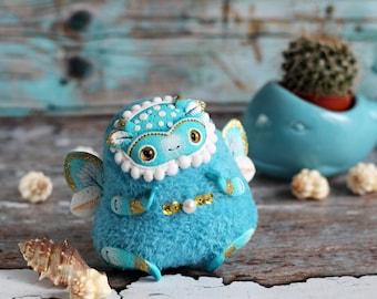 ooak art doll cute soft plush toy bug figurine fantasy animal toy kawaii soft plush ooak polymer clay doll