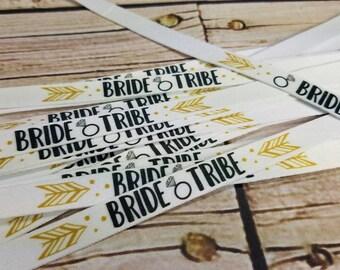 bride tribe bracelets bachelorette party  / tie bracelets / bracelets / party favors / bachelorette party favors / bridal shower favors