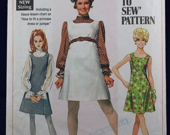 1960's Sewing Pattern for a Dress & Blouse in Size 12 - Simplicity 8008