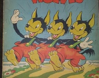 1937 Walt Disney Three Little Wolves Picture Book #895