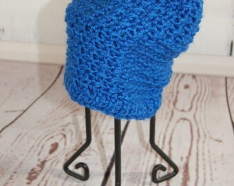 Baby Crochet Hat - Baby Slouchy Beanie - Blue Hat - Slouchy Hat - Baby Hat - Boys Hats - Winter Hat - Toque - Baby Shower - Crochet Baby Hat