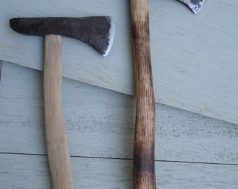 Decorative Mini-Hatchet, Made to Order, Fire-Marked Hickory Handle & Hand-Forged High Carbon Steel