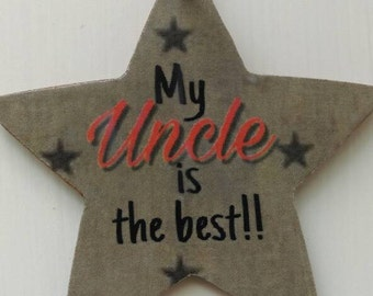 Gift for uncle, gift for him, rustic hanging star, rustic home decor, thank you gift, kitchen decor, birthday gift, keepsake, brother gift