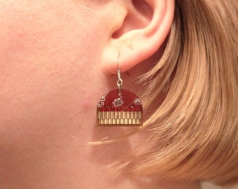 Circuit Board Earrings - Recycled Jewelry - Electronic Gift - Unique gift for Her - Geeky Earrings - Upcycled Computer Jewelry