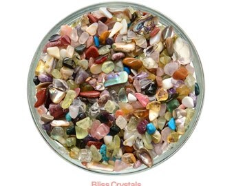 """250 XS """"Craft Mix"""" TUMBLED STONES 1/4 lb Mini Gemstone Assorted Mix Healing Crystal and Stone for Crafting Jewelry Crafts #MM01"""