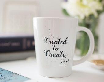Creative Mug, Handwritten Coffee Mug, Illustrated Faith,  Artist mug, Creative Gift, Bible Journaling gift, Housewarming gift, Quote Mug