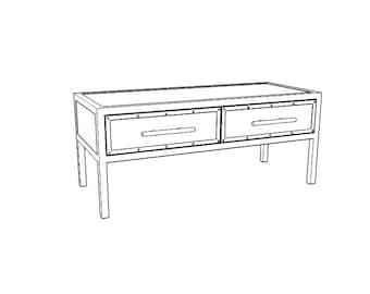 Steampunk furniture // Industrial furniture // Industrial TV table // Custom furniture // Bespoke furniture // Steel furniture