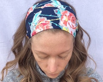 Fashion Floral Headband   Fashion headband   100% Cotton Handmade