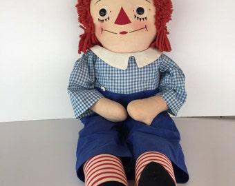 Raggedy Andy Cloth Doll/ Rag Doll/ Georgene Novelties/ Johnny Gruelle Doll/ Volland / Knickerbocker/ By Gatormom13