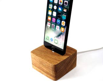 wood iphone 6 dock etsy. Black Bedroom Furniture Sets. Home Design Ideas