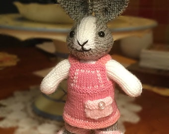 Easter Bunny(Made to Order) - Hand KnitDutch Rabbit - Stuffed Animal - Plushie