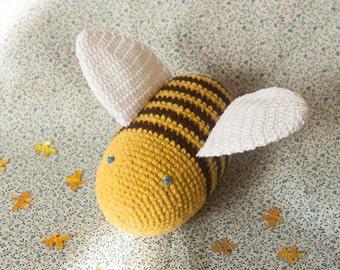 bumble bee stuffed toy plush toy bee stuffed animal toy baby toys natural kids toy bee nursery home decor amigurumi bee cute toy baby nursery cool bee animal