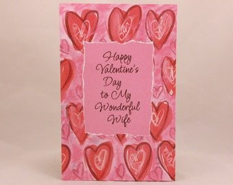 "NEW! Vintage ""Wife"" Valentine's Day by Freedom. Single Tri-Fold Greeting Card with Envelope."
