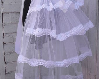 White tulle bustle skirt Overskirt Gothic Burlesque Steampunk tutu Lolita Whitby Party outfit Wedding Bride embroidered lace White Ivory
