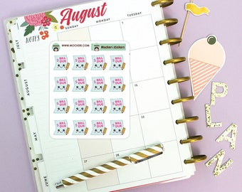 16 Bill Due Mini Stickers / Planner Stickers