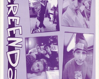 Green Day Photo Collage  Rare Vintage Poster